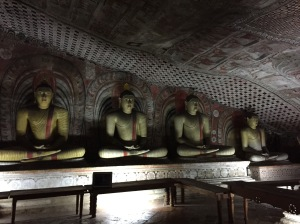 Buddha statues carved out of brick and clay.