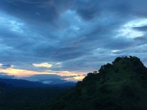 Sundown over Matale plains - centre of Sri Lanka.
