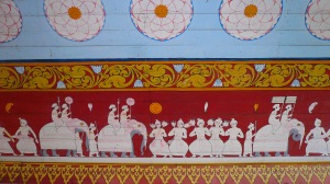 Fresco in the Temple of the Tooth Relic