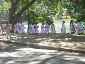 School children in Kandy
