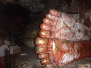 The feet of Buddha