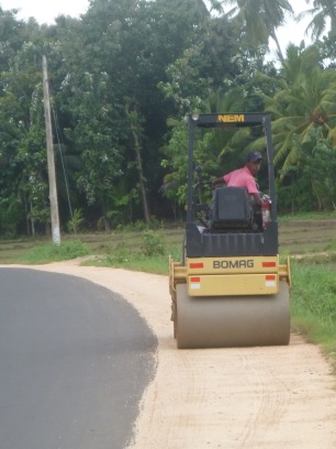 The modren growth in Sri Lanka. The roads are getting better all the time.