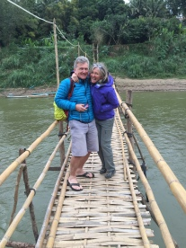 The Bamboo bridge guards. It's colder than it looks.