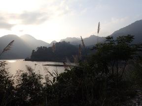 Stunning morning view. Da Ba lake.