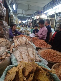 Dried fish and prawns. The smell...