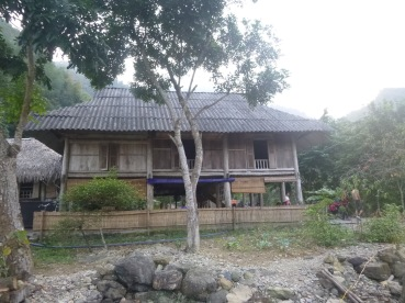 Our homestay. Traditional stilt house.