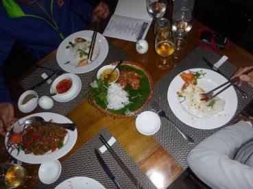 Lovely supper at Mai Chau Ecolodge.