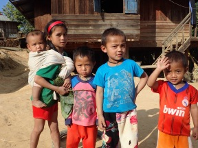 Great kids in the Khmu village. Friendly and inquisitive.