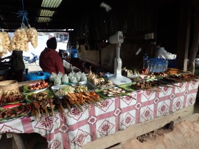 Market in Phou Khoun. Generally nice smells. Still wouldn't eat the cooked meats.