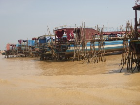 Boats being repaired, before the rainy season.