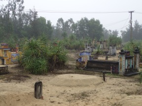 Tombs and sand.