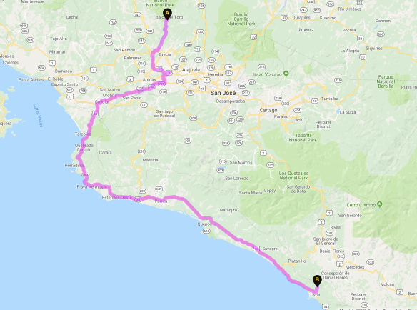 Our route. 5 hours of fun.